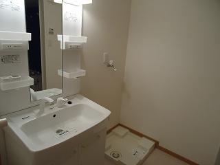 キューズルミエールB 01040号室の洗面所