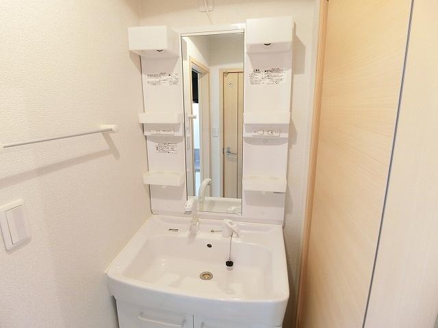 セレーノB 02010号室の洗面所