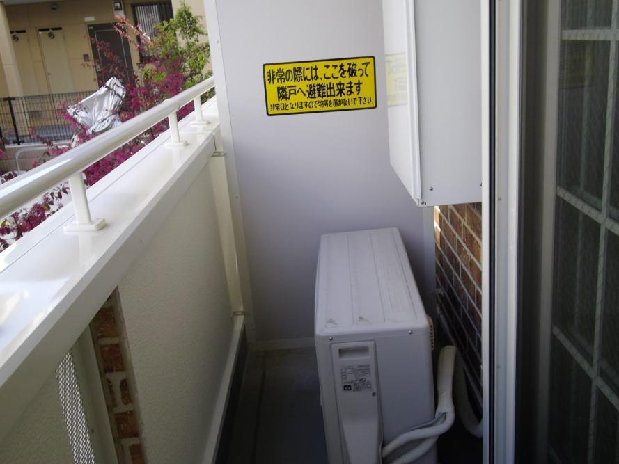 ベルデーアB 01040号室のバルコニー