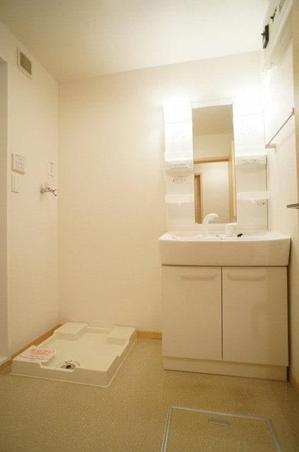 アンジュ・プレッソB 02010号室の洗面所