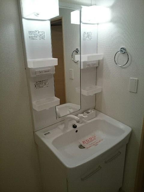 サンヴィレッジE 02010号室の洗面所