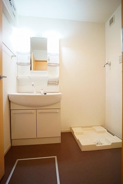 チャンプ ヴィレージ B 02020号室の洗面所