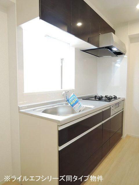 ユニゾン プリムローズⅡ 01030号室のキッチン