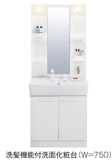 レジデンシアC 01010号室の洗面所