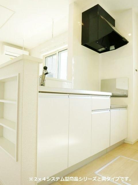 メゾン・ラフレシール B 01010号室のキッチン