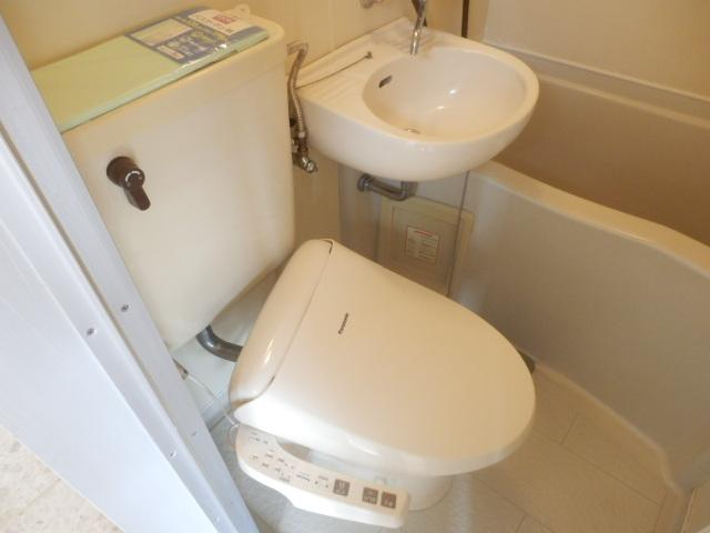 テックハウジング2 2A号室のトイレ