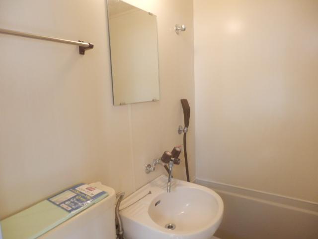 テックハウジング2 2A号室の洗面所