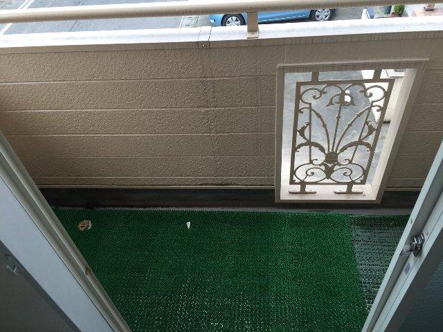 パレス大福 206号室のバルコニー
