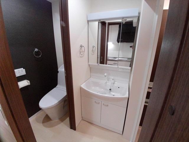 スプリーン 203号室の洗面所
