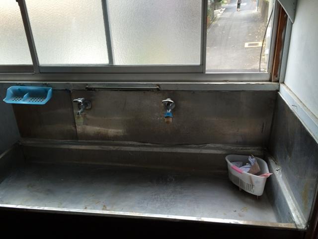 妙高荘 205号室の洗面所