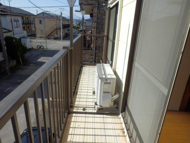 ソーラーみゆきⅠ・Ⅱ 205号室のバルコニー