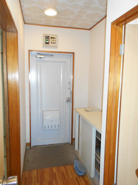 清水ハイツB 208号室の玄関