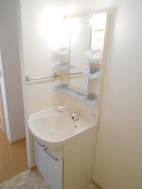 ディアコートB 201号室の洗面所