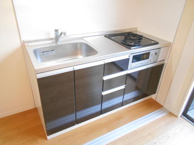 メゾンドゥリュイソー 201号室のキッチン