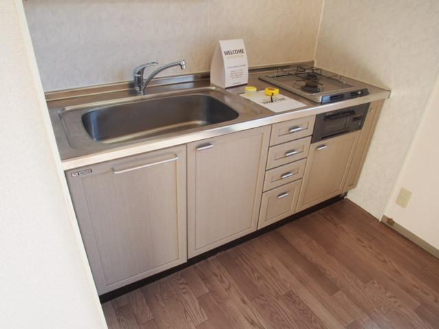 グリーンハウスⅢ 205号室のキッチン