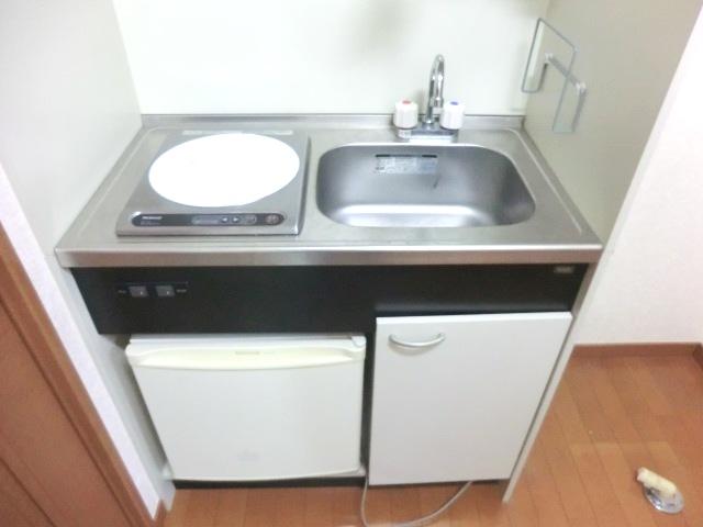 ウェルコート 206号室のキッチン