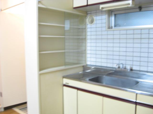 ビューティKASHI 202号室のキッチン