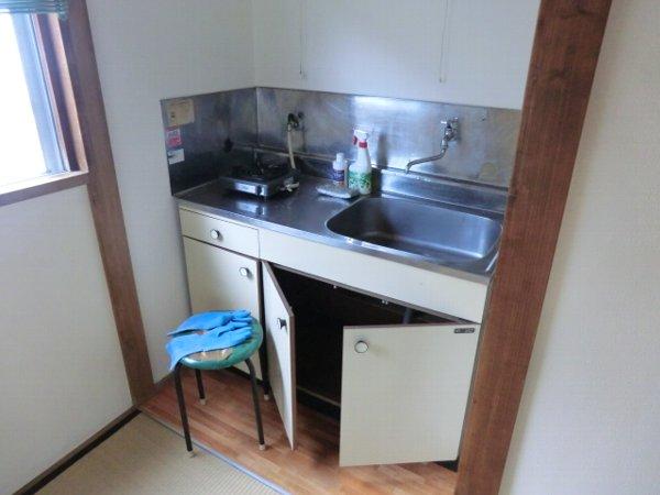 大場荘 201号室のキッチン