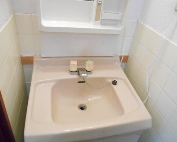 斎藤荘 102号室の洗面所