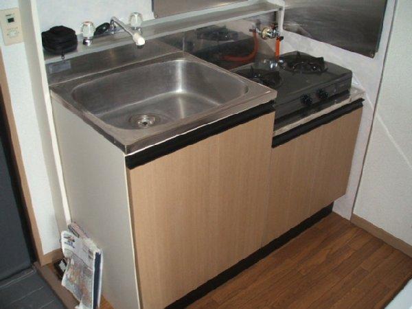 サンライズ S 201号室のキッチン