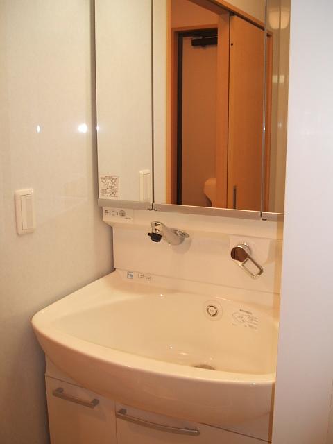 リビングタウン伊奈中央B 201号室の洗面所