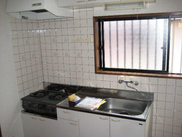 グランドソレイユⅡ 1-201号室のキッチン