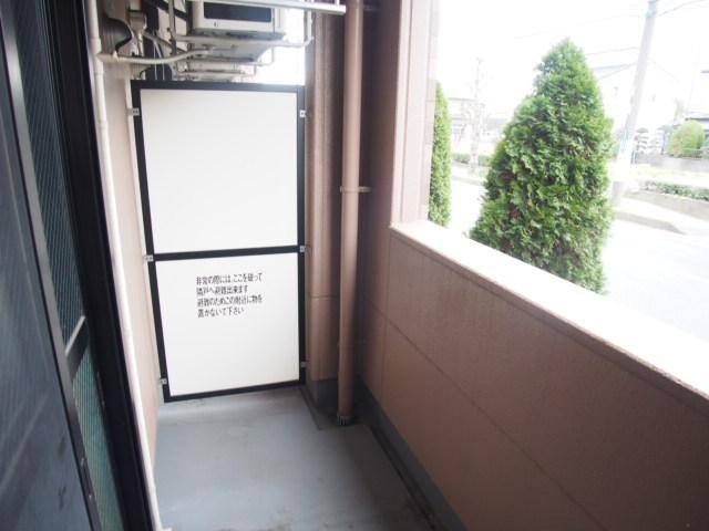 シャンドフルール 105号室のバルコニー