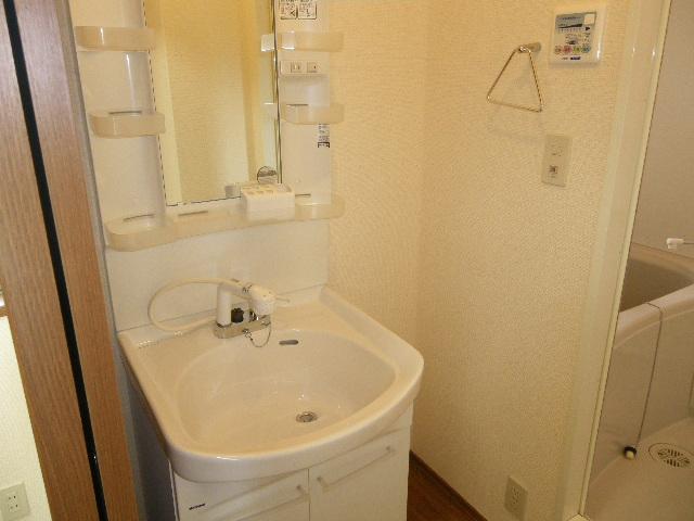アルフェッカA 201号室の洗面所