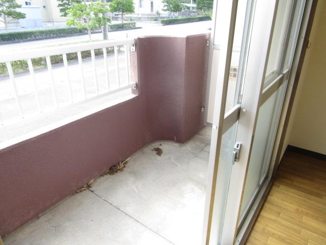 オズハウス1 118号室のバルコニー