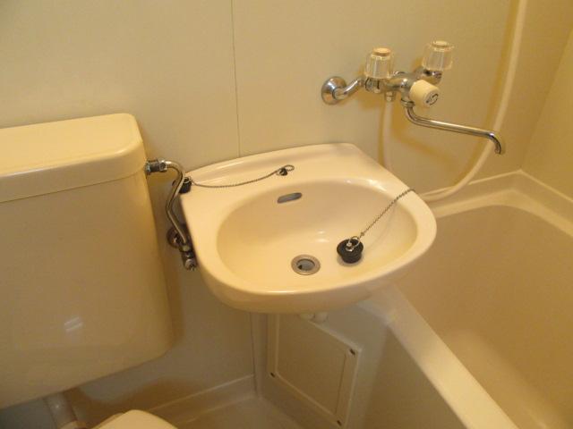ブルースカイ 105号室の洗面所