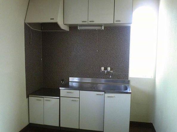 スカイハイツB棟 102号室のキッチン