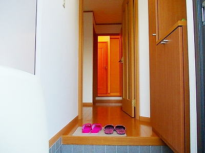 メイプルタウン壱番館 01030号室の玄関