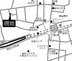 フェリース大岡山 202号室の地図