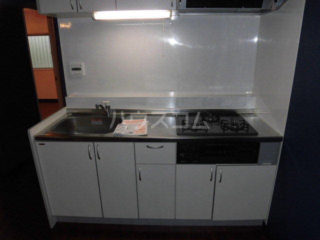 ルミエール所沢 00102号室のキッチン