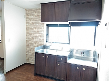グリーンアベニュー A 101号室のキッチン