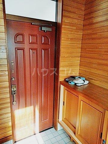矢部ハイツ A棟 202号室の玄関