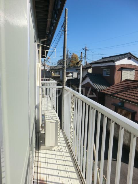 小川コーポ 202号室のバルコニー