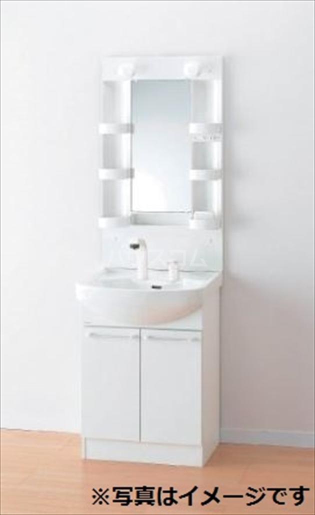 RIREA 鹿手袋 203号室の洗面所