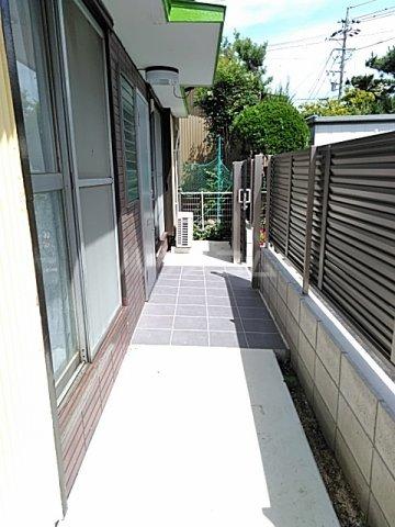 南栄町戸建の庭
