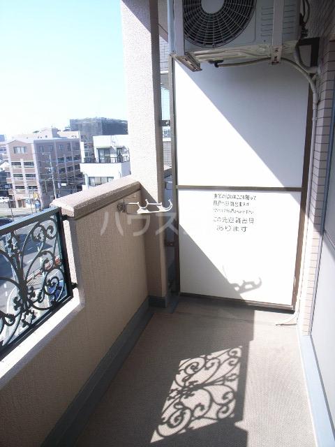 ダイナコート箱崎Ⅱ 602号室のバルコニー