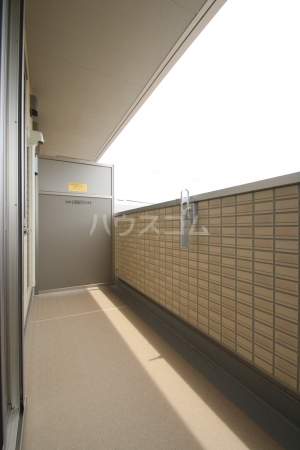 D-roomS・K A棟 205号室のバルコニー
