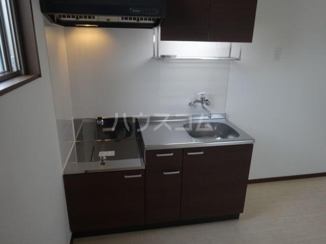 メゾンソレイユ2 202号室のキッチン