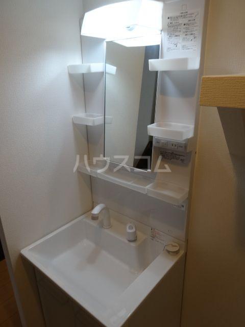 メゾンソレイユ2 202号室の洗面所