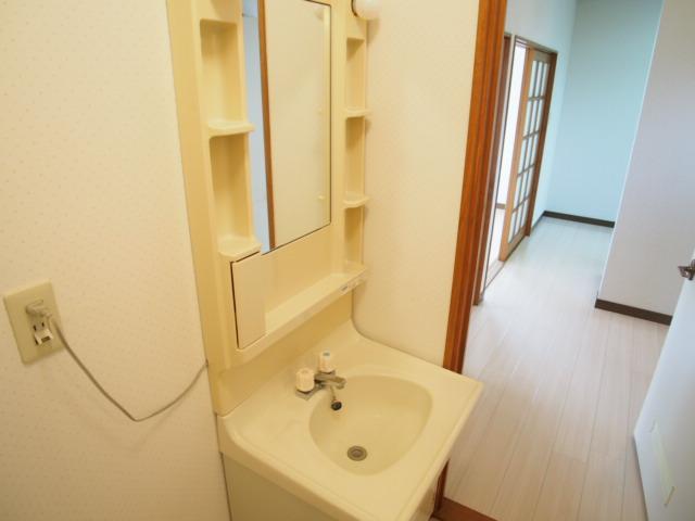 ハピネスC 101号室の洗面所