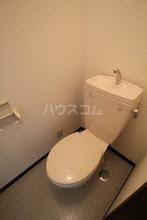 ルースヤハタB 203号室のトイレ