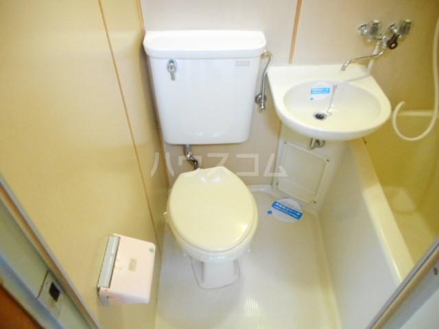 グリーンベルⅠ 22号室のトイレ