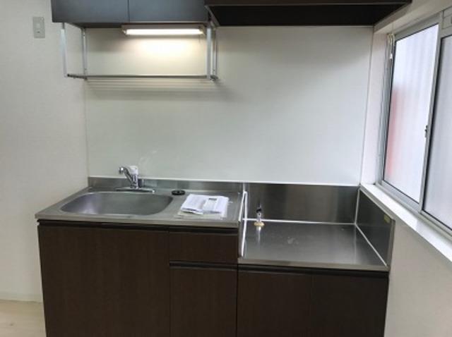 ハイツK A202号室のキッチン