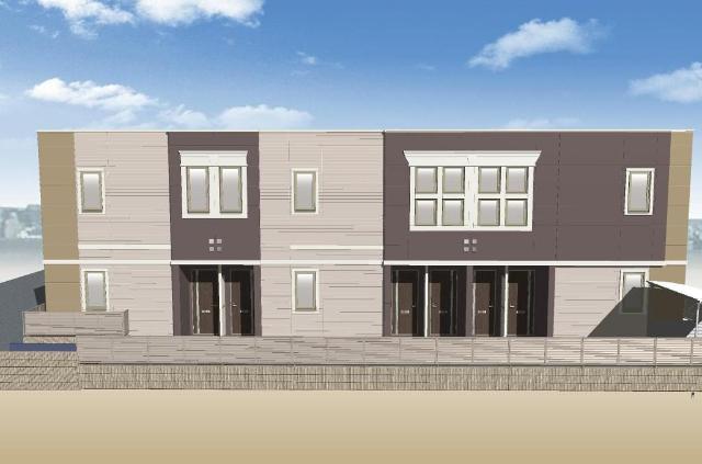 枚方市南中振1丁目賃貸アパート新築工事外観写真