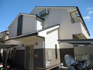 西野大鳥井町アパート外観写真