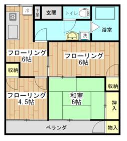 与野中里住宅 301号室の外観